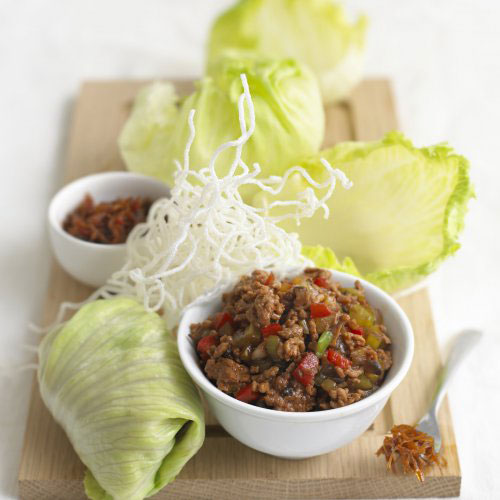 Minced Pork in Lettuce Wrap (San Choy Bao)