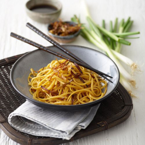 Spring Onion Oil Noodles (Vegetarian)