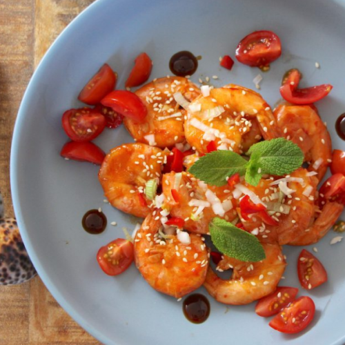 Stir-fried King Prawns with Oyster and Chilli Garlic Sauce