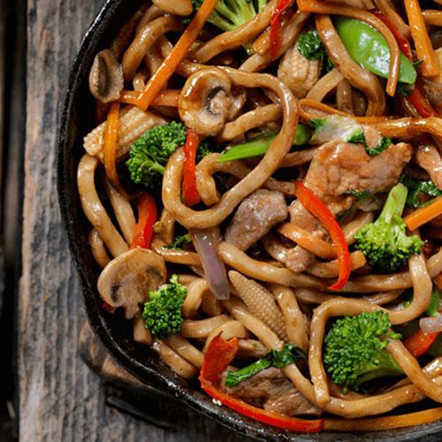 Cantonese Stir-fried Udon Noodles