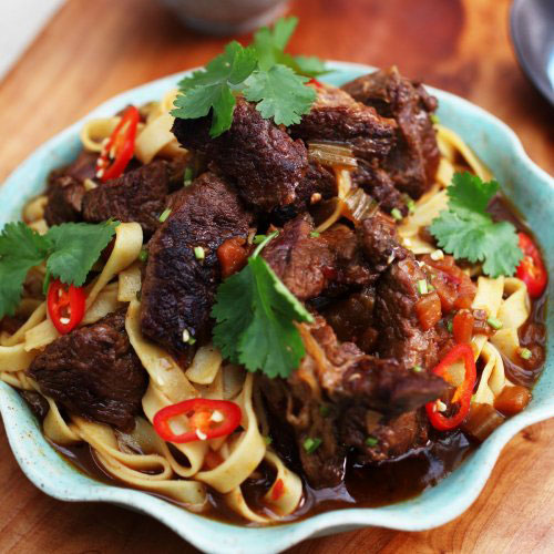 Chilli Bean Beef Shin Pasta By Ching He Huang
