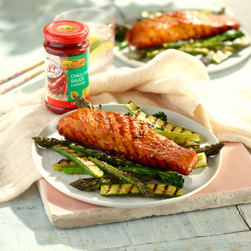 Chilli Garlic Glazed Salmon
