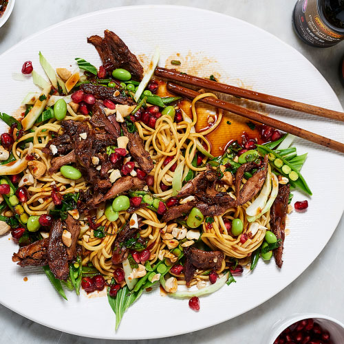 Crispy Duck Jewelled Salad By Ping Coombes