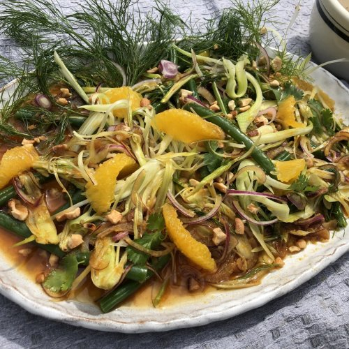 Green Bean & Fennel Salad with Orange Hoisin Dressing