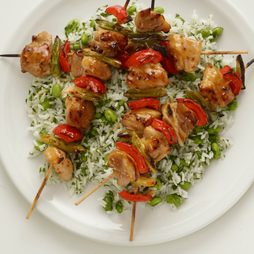 Griddled Chicken Skewers
