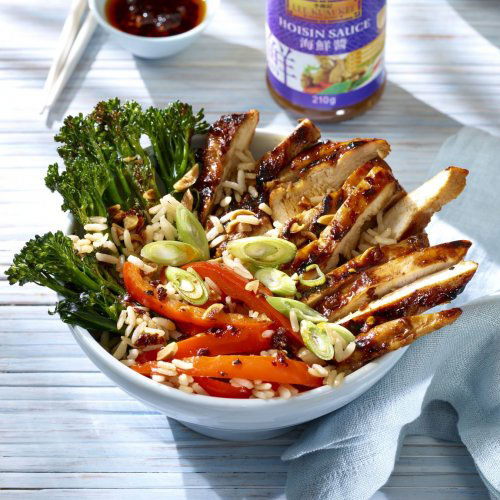 Soy and Hoisin Glazed Chicken Protein Bowl