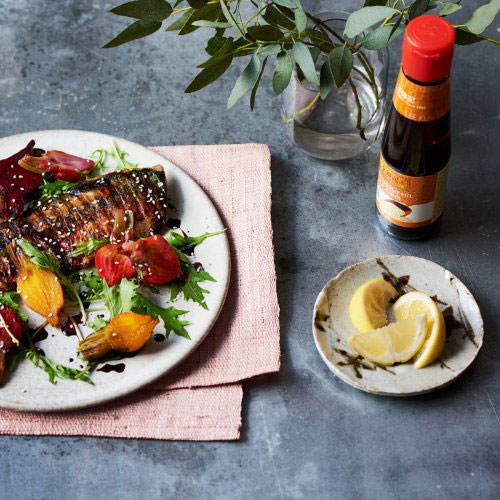 Pan Griddled Mackerel with Soy Glazed Beetroot
