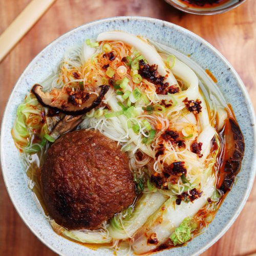 Lion Head Meatball Noodle Soup