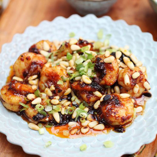 Spicy Sweet Smoky Oyster Sauce Prawns