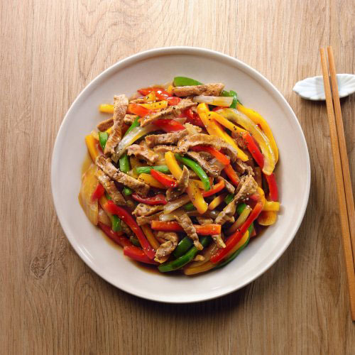 Pan-fried Pork with Bell Pepper