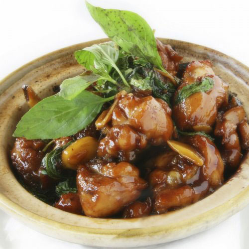 Oyster Chicken with Basil