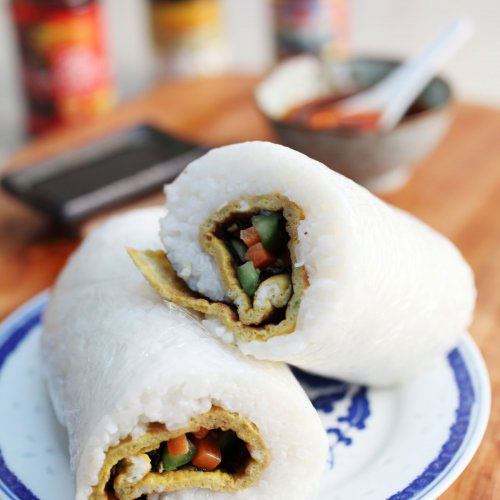 Oyster Sauce Omelette Rice Roll By Ching He Huang