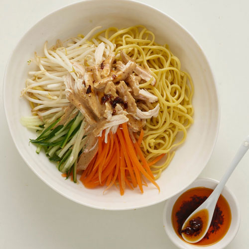 Roast Chicken Noodle Salad