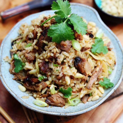 Shredded Roast Duck Cabbage Fried Rice