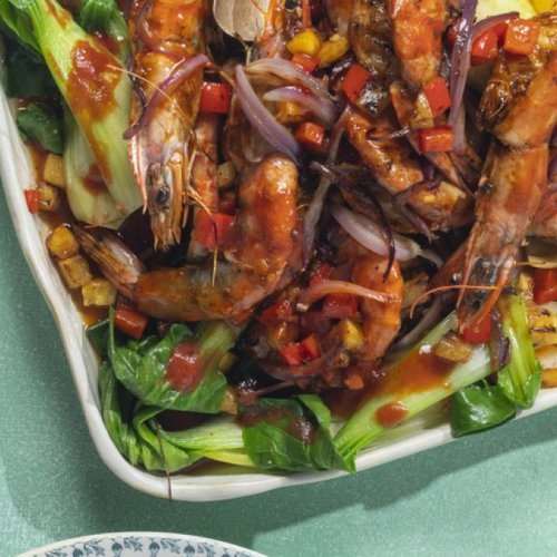 Grilled Prawns with Sweet and Sour Glaze