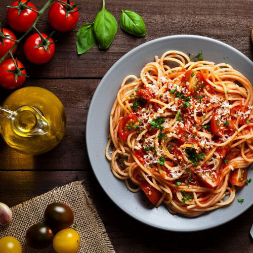 Spaghetti with Sauce for Tomato Garlic Sauce