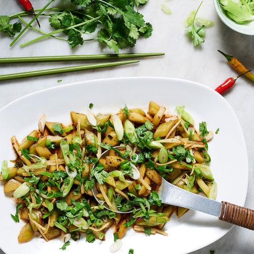 Stir-fried Cucumbers with Hot Spices