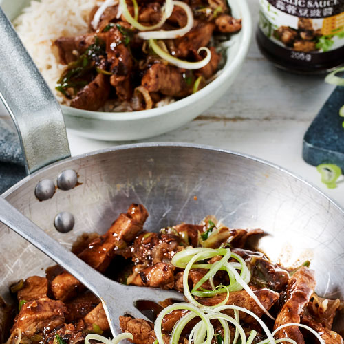 Stir-fried Pork with Black Bean Garlic Sauce By Ken Hom