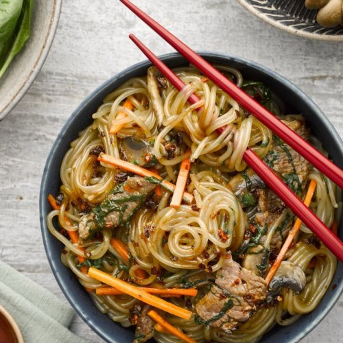 Stir-fried Beef Chuck with Glass Noodles