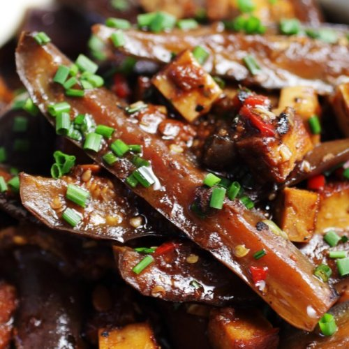 Sweet Soy Silky Aubergines in Claypot by Ching He Huang