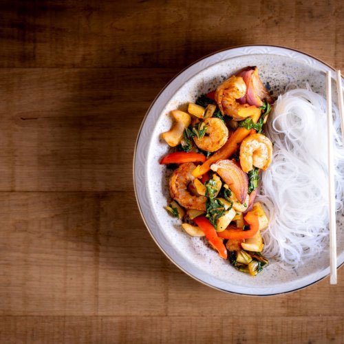 Stir-fried Prawns with Chilli Garlic Sauce