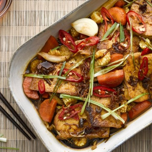 Braised Tofu with XO Sauce