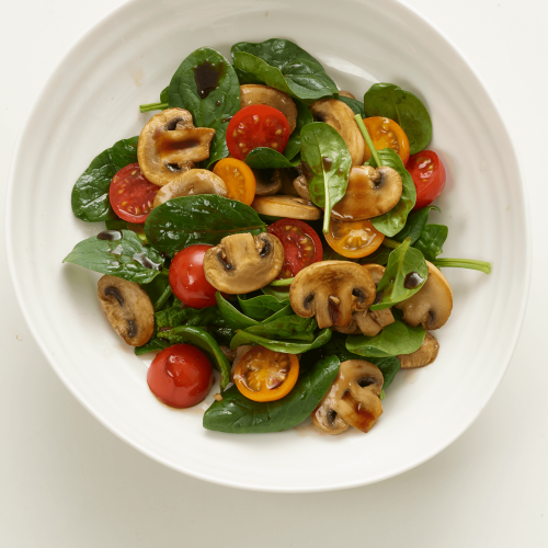 Warm Mushroom And Cherry Tomato Salad