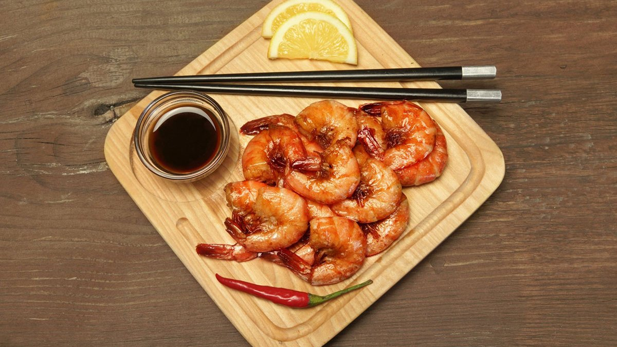 Prawns in Double Deluxe Soy Sauce