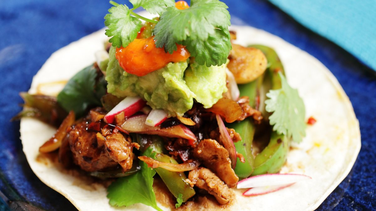 Umami Rich Chinese Black Bean Seitan Tacos by Ching He Huang