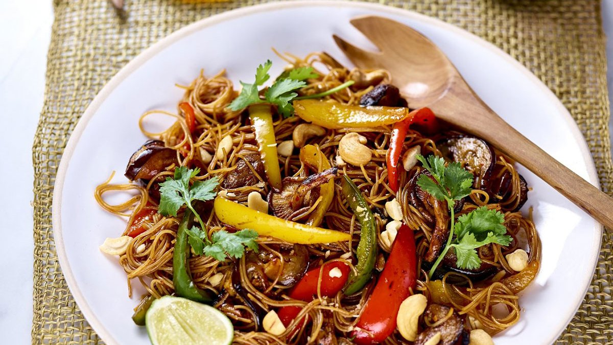 Grilled Vegetable Vermicelli Noodles
