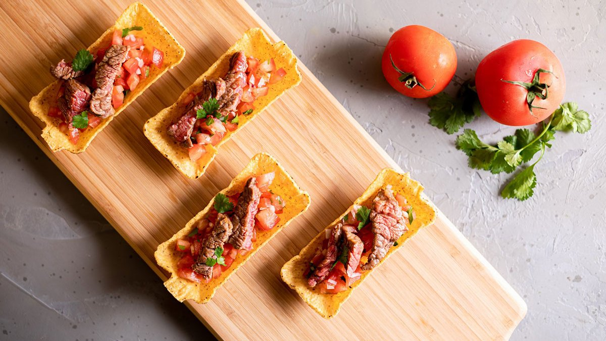 Mini Taco Snacks with Steak