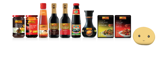 Bottles of premium light soy Sauce and dark soy sauce.