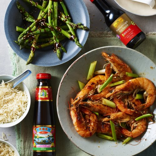 Garlic Butter Prawns with Soy Sauce